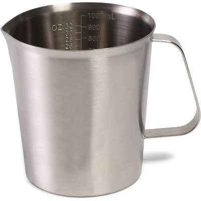 Juvale Stainless Steel Metal Measuring Cup with Handle (32 oz, 1000ml)