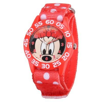 Kid's Disney Minnie Watch - Red