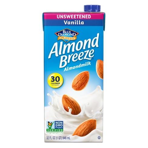 Blue Diamond Almond Breeze Unsweetened Vanilla Almond Milk - 32 fl oz - image 1 of 3