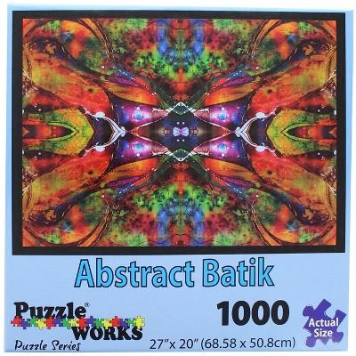 PuzzleWorks 1000 Piece Jigsaw Puzzle | Abstract Batik