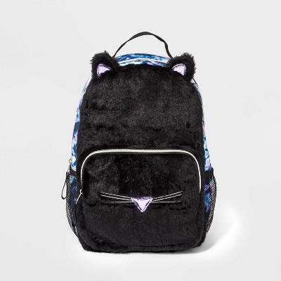 Girls' Cat Fur Backpack - Cat & Jack™ Black