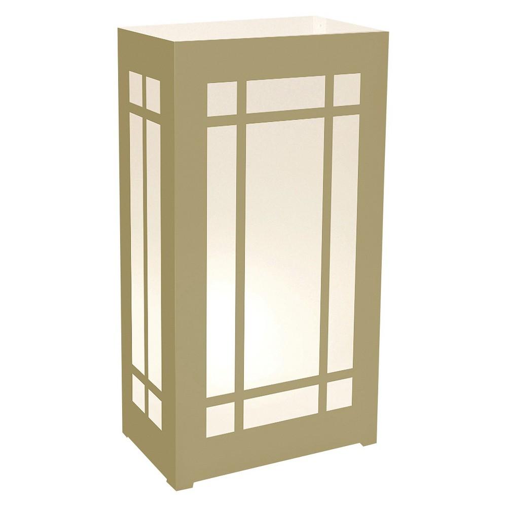 Image of 10ct Plastic Luminaria Lanterns Gold