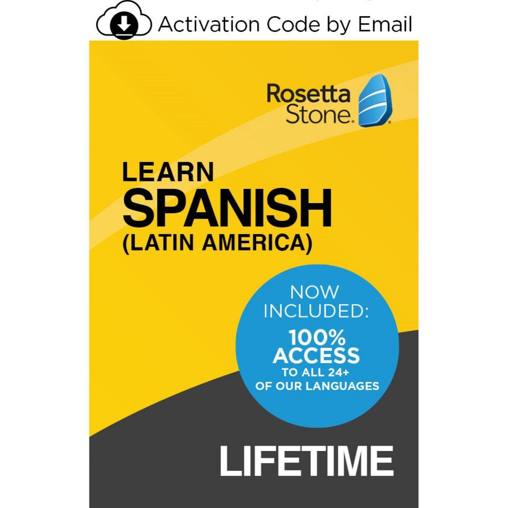 Rosetta Stone Spanish Unlimited Lifetime Electronic Software Download