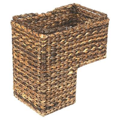 "BacBac Leaf Woven Stair Basket 16"" x 10"" - 3R Studios"