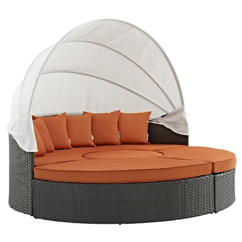 Sojourn Outdoor Patio Sunbrella® Daybed in Canvas - Modway - image 1 of 6