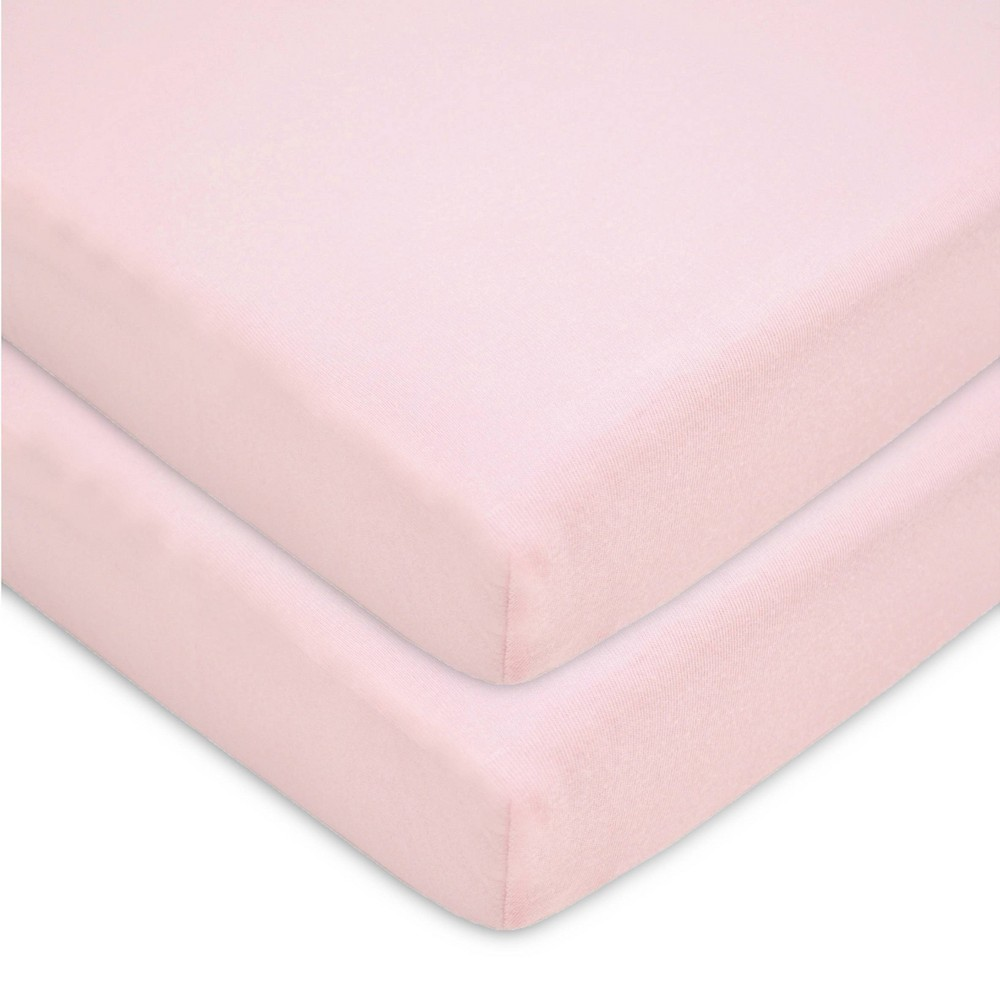 Tl Care Fitted Cotton Playard Sheet Pink 2pk
