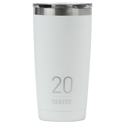 Takeya Originals 20oz Insulated Stainless Steel Tumbler with Sip Lid - White