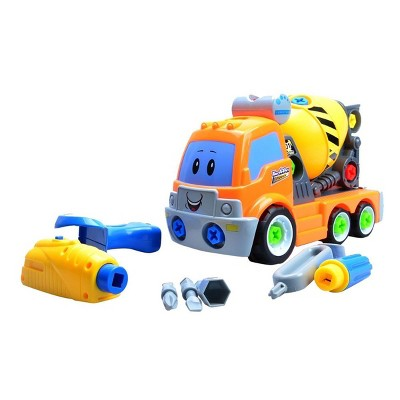 Insten Build Your Own Construction Cement Mixer Truck, Take-A-Part Toy for Engineering Stem Project Kit