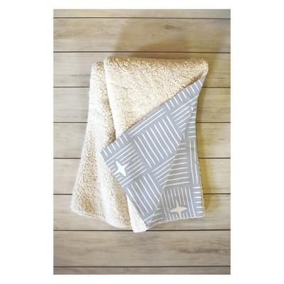 60 x50  Little Arrow Design Co Nordic Winter Fleece Throw Blanket Blue - Deny Designs