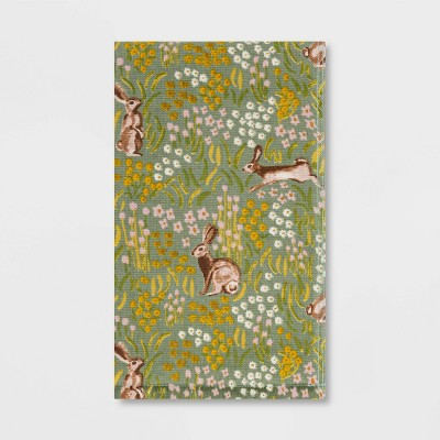 All Over Bunny Field Hand Towel Green - Threshold™
