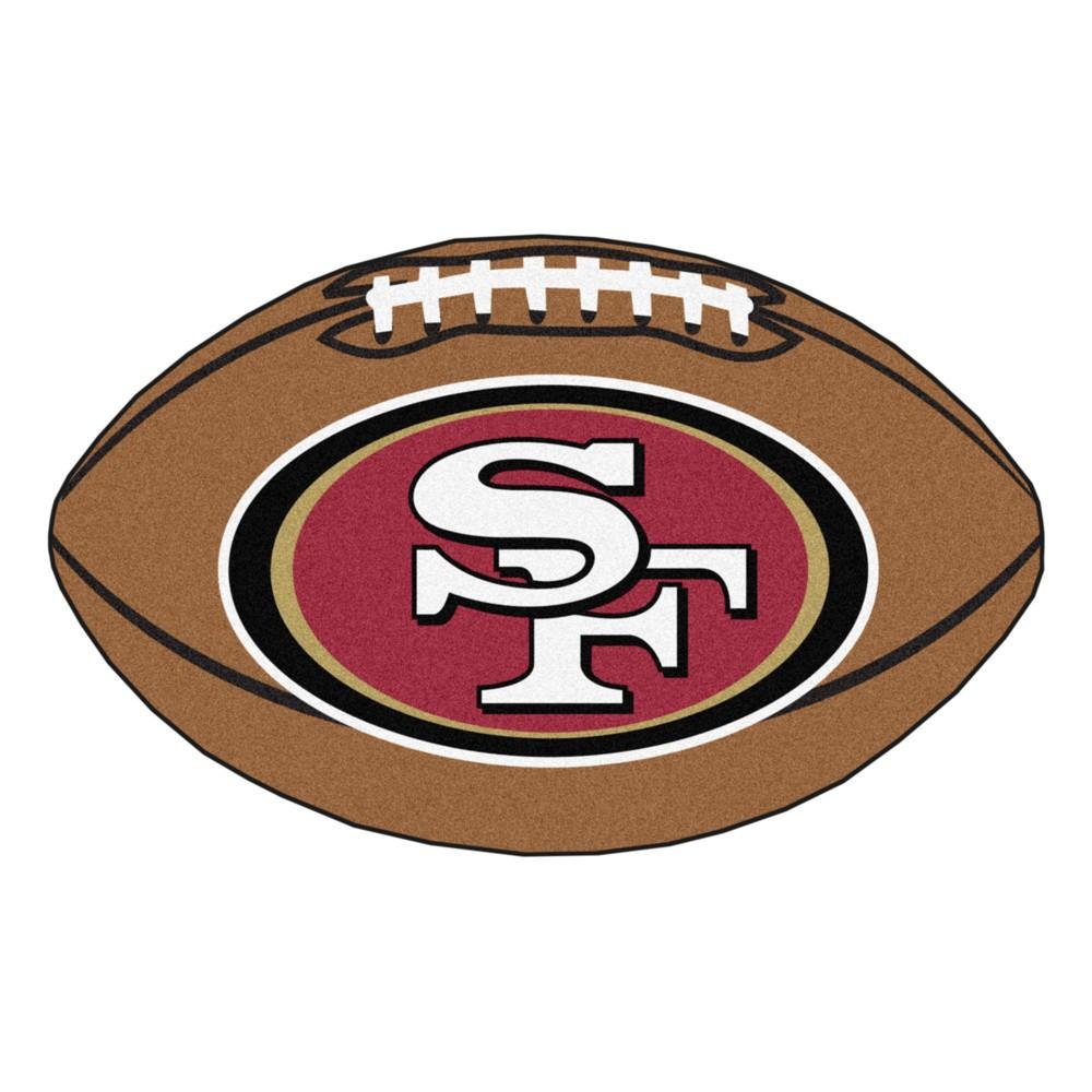 San Francisco 49ers Fan Mats Football Rug 35