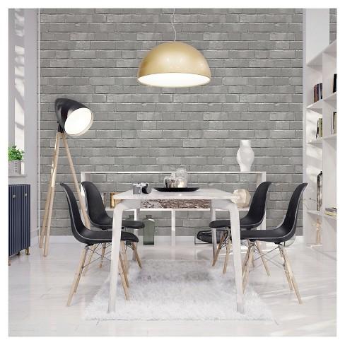 Devine Color Textured Brick Peel Stick Wallpaper Mirage Target