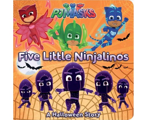 Five Little Ninjalinos : A Halloween Story -  (Pj Masks) by Tina Gallo (Hardcover) - image 1 of 1