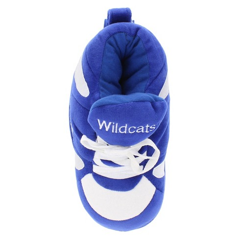 f94b6b25c549e NCAA Kentucky Wildcats Adult Comfy Feet Sneaker Slippers - Blue White