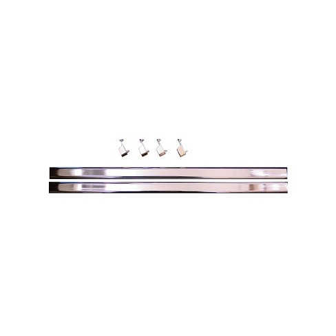 Easy Track RR1024-CH 24 Inch Oval Wardrobe Closet Clothes Rack Rods with End Caps for 72 and 48 Inch Easy Track Vertical Panels, Chrome (1 Pair) - image 1 of 1