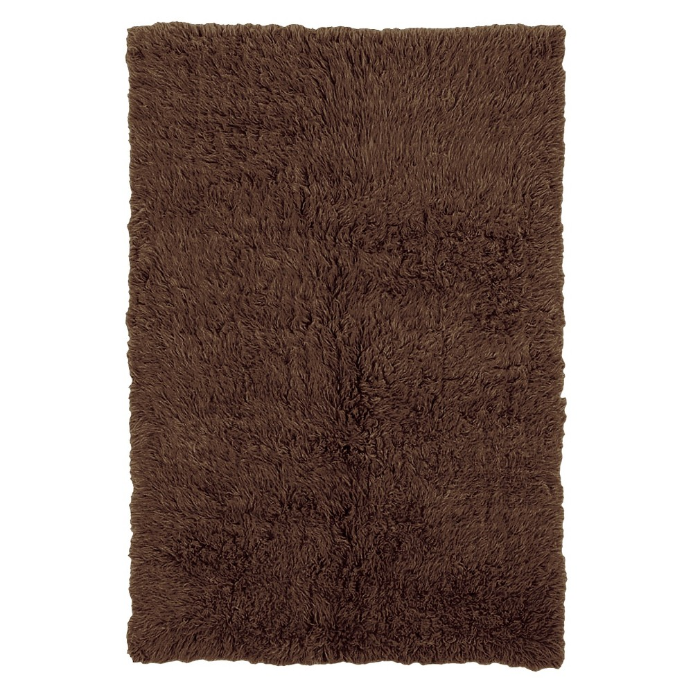 Image of 100% New Zealand Wool Flokati Accent Rug - Cocoa (4'X6')