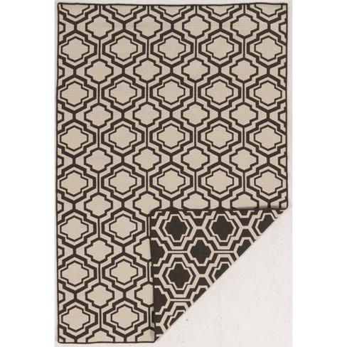 5'X7' quatrefoil Design Area Rug Brown - Linon - image 1 of 3