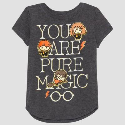 Toddler Girls Harry Potter Short Sleeve T Shirt Gray