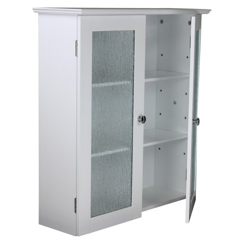 Connor 2 Door Wall Cabinet White Elegant Home Fashions Target