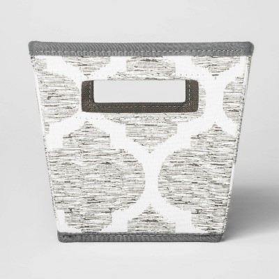 Fabric Quarter Bin Gray Pattern - Threshold™