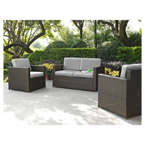Palm Harbor 3pc All-Weather Wicker Patio Seating Set - Crosley - image 1 of 1