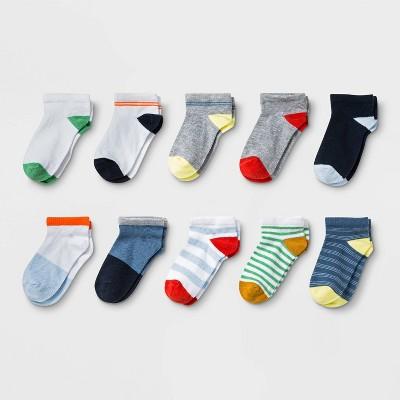Toddler 10pk Low Cut Socks - Cat & Jack™ 4T-5T