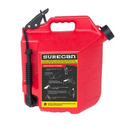 SureCan Easy Pour Rotating Nozzle 5 Gallon Flow Control Gas Container Can, Red