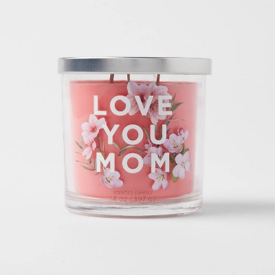 14oz Glass Jar 3-Wick Love You Mom Candle - Opalhouse™