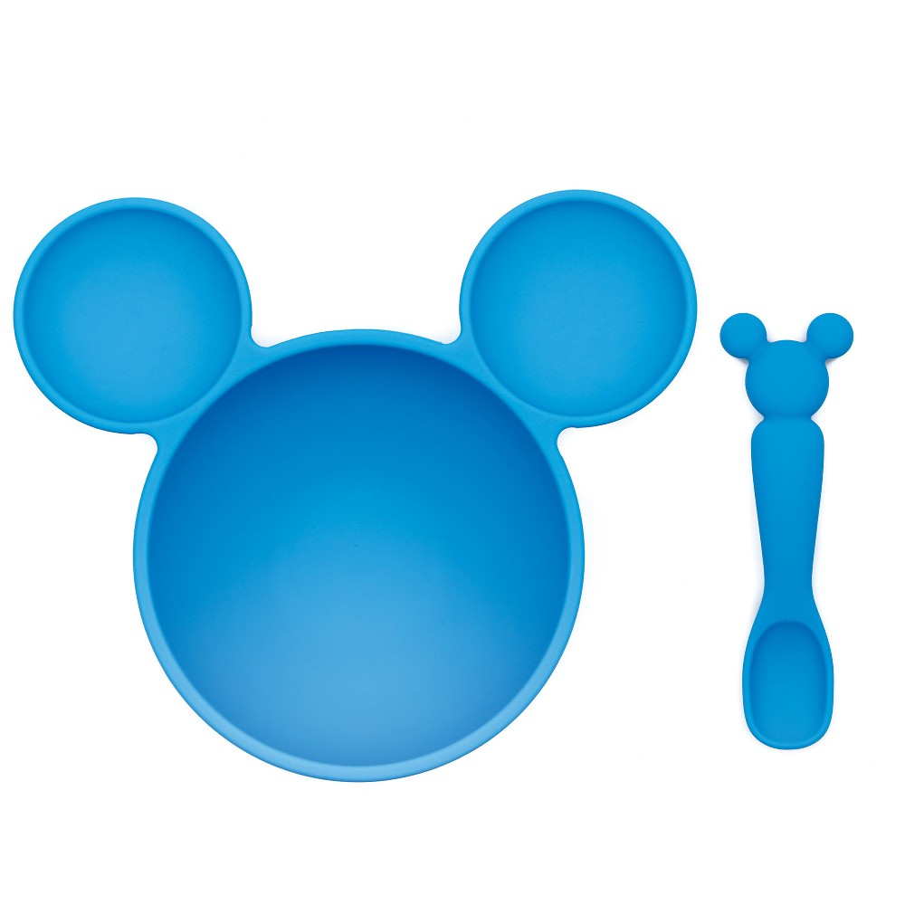 Image of Bumkins Disney Mickey Mouse First Feeding Set - Blue