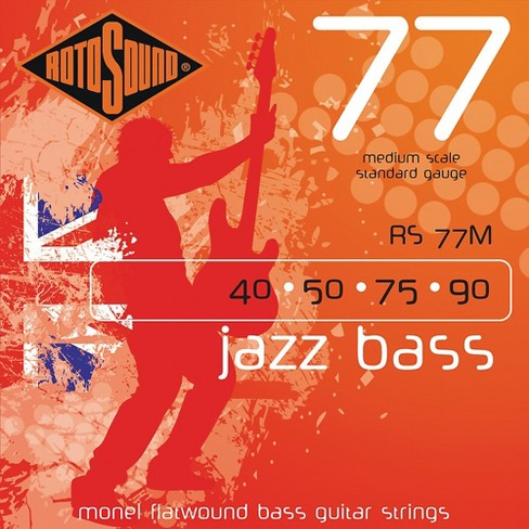 Rotosound RS77M Jazz Bass Monel Flat Wound Strings - image 1 of 2