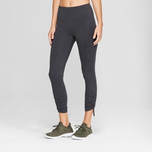 f60f423e95c8b Women's Comfort High-Waisted 7/8 Leggings with Adjustable Ties - JoyLab™  Charcoal Heather