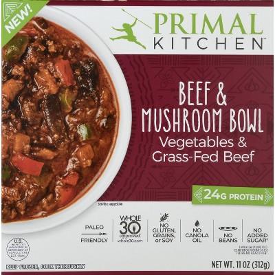 Primal Kitchen Gluten Free Frozen Beef & Mushroom Bowl - 11oz