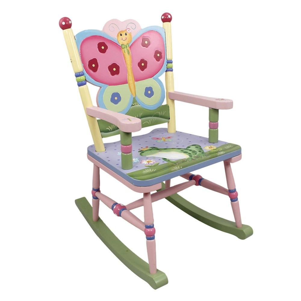Image of Magic Garden Fantasy Fields Rocking Chair - Teamson Kids