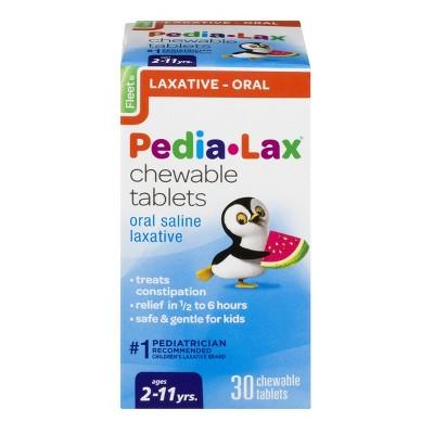 Pedialax Children's Saline Laxative Chewable Tablets - Watermelon - 30ct