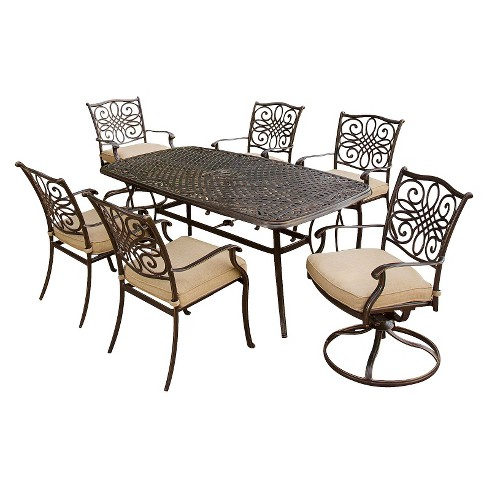 Traditions 7-Piece Metal Patio Dining Furniture Set : Target
