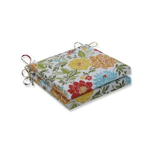 Spring Bling 2pc Indoor/Outdoor Squared Corners Seat Cushion - Pillow Perfect - image 1 of 1