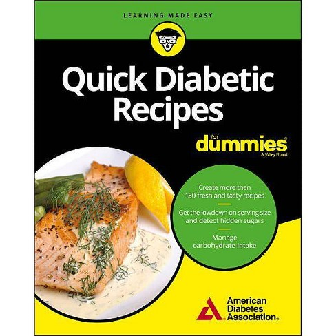 Quick Diabetic Recipes for Dummies - (Paperback) - image 1 of 1