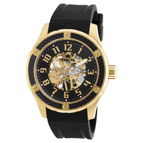 Men's Invicta Specialty 16279 Stainless Steel Mechanical Three Hand Strap Watch - Black - image 1 of 1