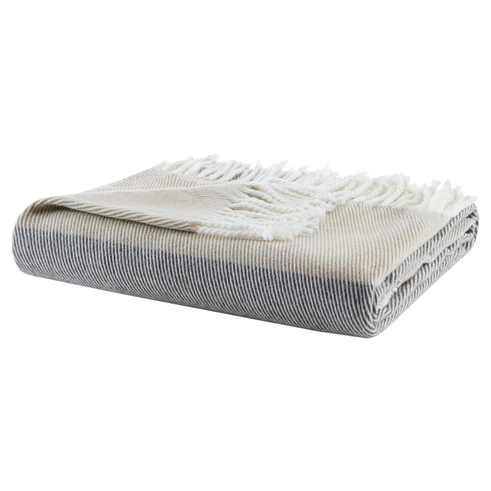 Taupe Brown Solid Throw Blankets 50x60
