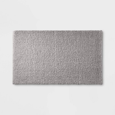"21""x34"" Textured Bath Mat Gray - Casaluna™"