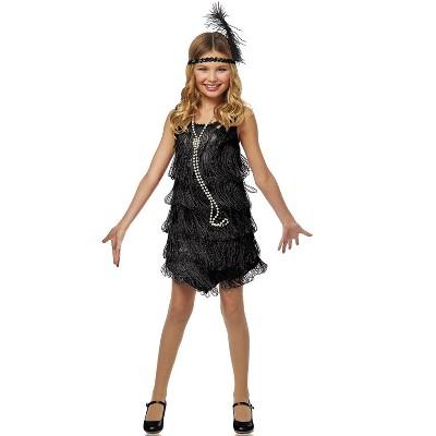 Franco Black Flapper Child Costume