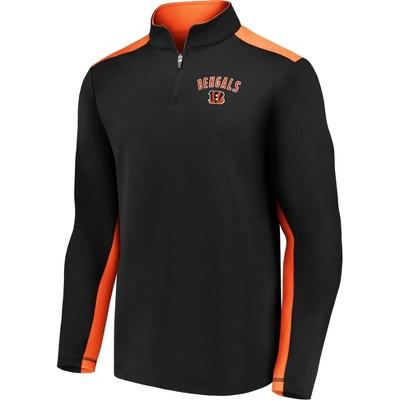 NFL Cincinnati Bengals Men's 1/4 Zip Fleece Sweatshirt