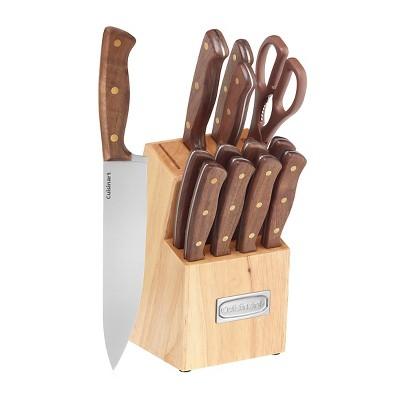 Cuisinart Advantage Walnut Triple Rivet Cutlery Block Set - C55W-14PCB