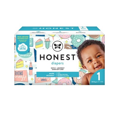The Honest Company Donut Grow Up & Honest Drive-In Disposable Diapers - Size 1 - 80ct