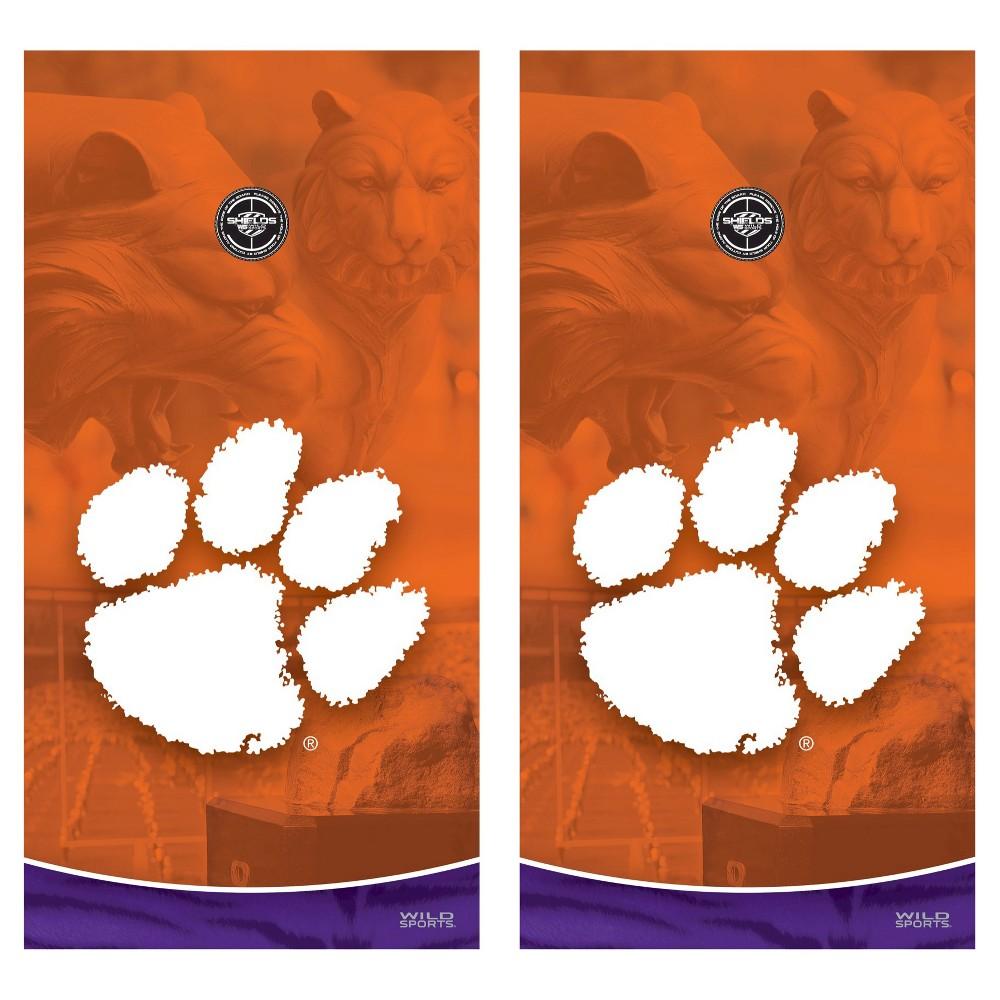 Clemson Tigers Wild Sports College Vinyl Cornhole Shield - 2 x 4 ft.