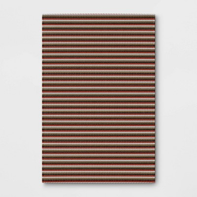4' x 6' Outdoor Rug Shadow Stripe - Room Essentials™