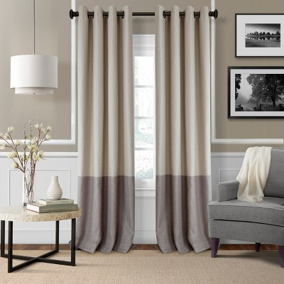 Braiden Color Block Blackout Window Curtain Panel - Elrene Home Fashions