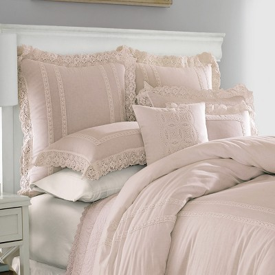 Full/Queen Pink Annabella Duvet Cover Set - Stone Cottage
