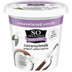 So Delicious Dairy-Free Unsweetened CoconutMilk Vanilla Yogurt Alternative - 24oz