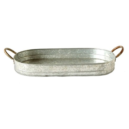 Galvanized Iron Serving Tray - 3R Studios - image 1 of 4
